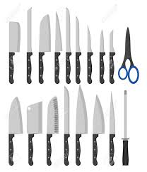 types of knives kitchen different types of kitchen knives vectors set royalty free