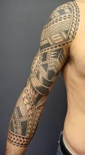 black polynesian maori half sleeve tattoo photos pictures and
