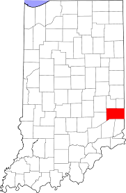 Indiana Usa Map by List Of Indiana State Historical Markers In Franklin County