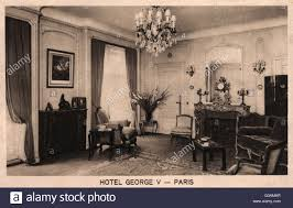 france paris interior of the hotel george v date circa late