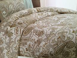 blue and brown paisley bedding bella lux paisley blue brown tan