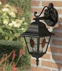 Outdoor Electric Post Lights by Traditional Lantern Post Light Lamp Wall Mounted Vintage Garden