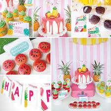 Summer Party Decorations Tropical Party Decorations Pineapple Party Summer Party