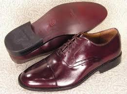 sku 65537 mens burgundy maroon wine color oxford cap toe lace