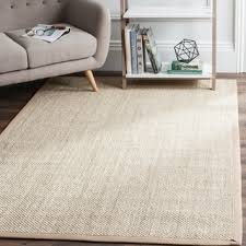 4 X 8 Area Rugs Safavieh Casual Natural Fiber Marble Ivory Linen Sisal Area Rug