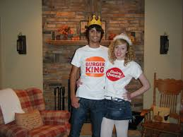 King Queen Halloween Costumes Peace Heart Halloween Dance