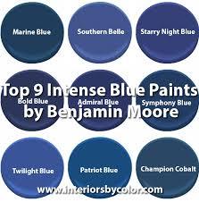 bejamin moore top 9 intense blue paints by benjamin moore interiors by color