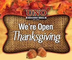 uno is open on thanksgiving