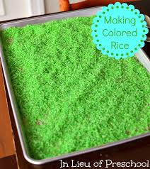 how to color rice in lieu of preschool