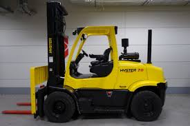 hyster h7 0ft four wheel counterbalanced forklift for sale