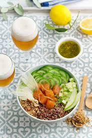 cuisiner le quinoa buddha bowl au saumon et quinoa les meilleures recettes de cuisine