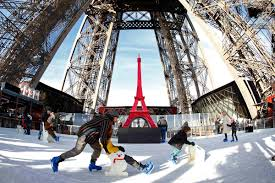 ice skating at the eiffel tower u201cpeace garden u201d at the nobel peace