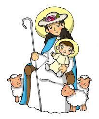 imagenes de virgen maria infantiles dibujos para catequesis virgen maría divina pastora pinterest