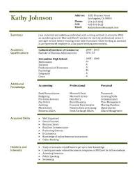 Sample Resume Of Accountant by 13 Student Resume Examples High And College