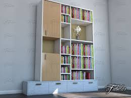 3d Bookshelf Bookshelf 08 3d Model Cgstudio