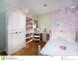 Stylish Pink Bedrooms - stylish pink bedroom with wardrobe royalty free stock image
