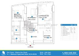floor plans of sun tower al reem island