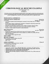 Chronological Resume Examples Samples by Chronological Resume Format 21 Chronological Resume Example Sample