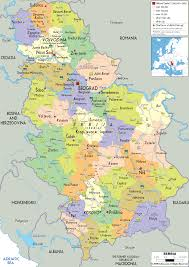 Map Of Europe With Major Cities map of serbia srbija pinterest serbian novi sad and eastern