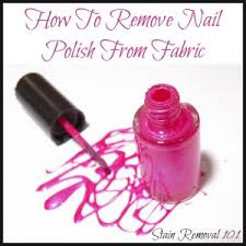 how to remove nail polish from fabric u0026 clothing