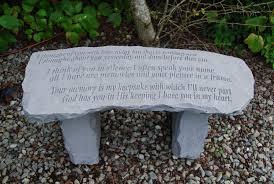 garden memorial bench stone bench thoughts special memorials