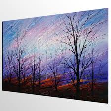 Wall Art Paintings For Living Room Abstract Art Colorful Sky Painting Oil Painting Abstract