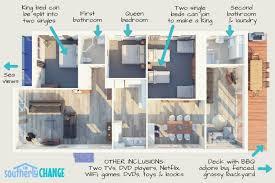 floorplan u2013 southerly change gerroa accommodation beach holiday house