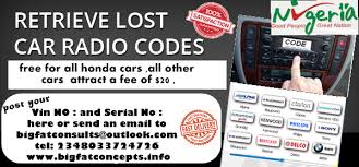 free honda and acura radio codes 2000 2010 models autos nigeria