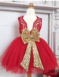 girls sequin bow christmas dress big bow lace dress baby girls