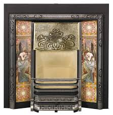 fireplace tiles art deco images
