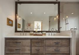 san francisco reclaimed wood vanity bathroom rustic with wall art