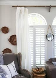 Chunky Wooden Curtain Poles Classy Yet Affordable White Curtains Maison De Pax