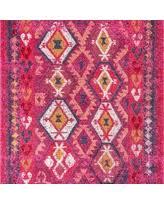 Pink 8x10 Rug On Sale Now 25 Off Nuloom Geometric Tribal Diamond Pink Rug 8