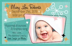 retro baby birth announcement di 6004 harrison greetings