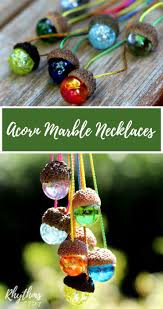 diy acorn marble necklace nature craft marble necklace nature