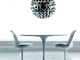 malik gallery collection eero saarinen round tulip dining table