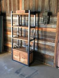 Storage Bookshelf Industrial Reclaimed Wood Storage Bookshelf Open Shelving