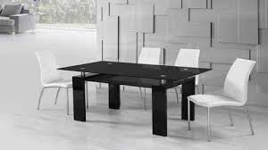 black and white kitchen table high gloss dining table and chairs sets homegenies