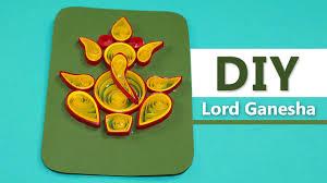 Invitation Cards For Ganesh Festival Lord Ganesha Diy Handmade Paper Quilling Greeting Card Design