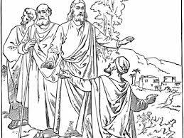 Was Bartimaeus Born Blind Jesus Heals The Man Born Blind Bible Coloring Page Jesus Heals