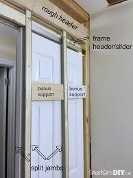 Cutting Wood Flooring Around Door Frame How To Install A Pocket Door Johnson Hardware 1510 Series
