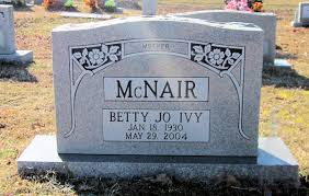 Banister Lieblong Betty Jo Ivy Mcnair 1930 2004 Find A Grave Memorial