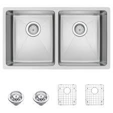 Stainless Steel Undermount Kitchen Sink by Water Creation Undermount Small Radius Stainless Steel 31 In 0