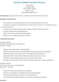 Physical Security Specialist Resume Sample Validation Specialist Resume Resame Pinterest
