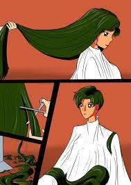 sailor pluto gets a short haircut by danielwartist on deviantart
