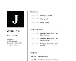resume outline word u2013 inssite