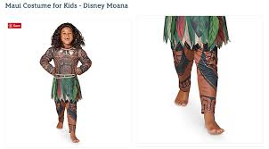 disney under fire for u0027full body brownface u0027 moana halloween