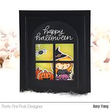 first halloween black background handcrafted cards made with love pretty pink posh september blog hop