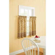 Yellow Kitchen Curtains Valances Better Homes And Gardens Tuscan Retreat Valance Walmart