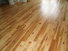 3 4 wide character grade hickory hardwood floor with a clear